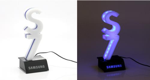 Display com iluminação de LED