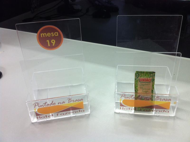 Porta guardanapo com impressão digital