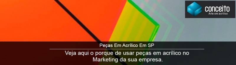 Peças de acrílico no Marketing