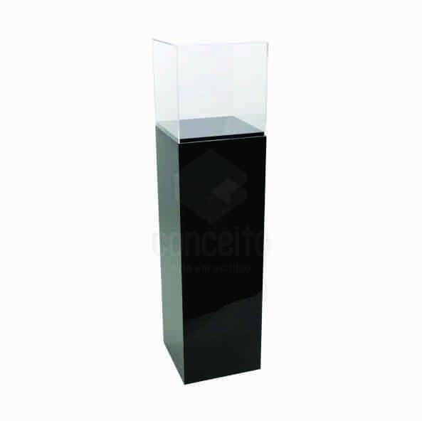 Caixa com Pedestal de chão em acrilico