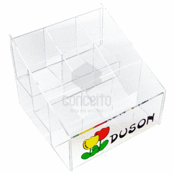 Caixa para organizar produtos