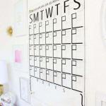 Calendário de acrílico parede
