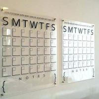 Calendário personalizado acrílico
