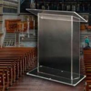Por que usar púlpito de acrílico na igreja?